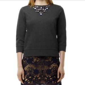 Club Monaco jeweled sweatshirt